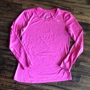 Nike Long Sleeve Pink Dri fit short Size Small